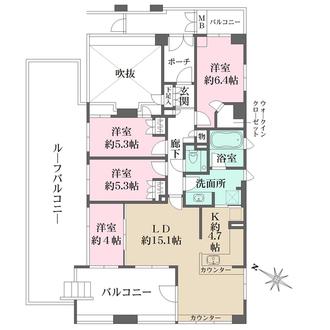 エルステージ東戸塚パークテラスの間取図