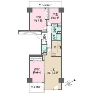 ニューシティ東戸塚パークヒルズの間取図