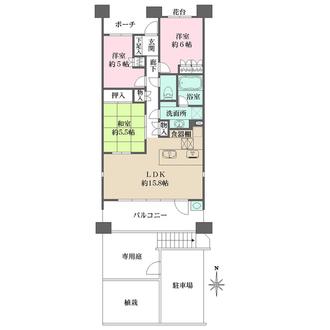 フェアプレイス横浜戸塚の間取図