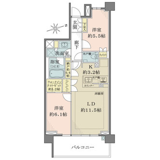 ザ・パークハウス戸塚ガーデンの間取図