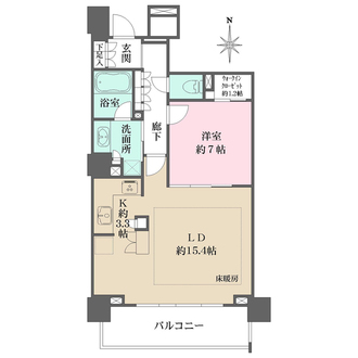 BELISTAタワー東戸塚の間取図