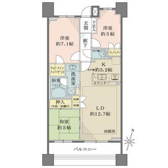 オーセンティアタワー平塚の間取図