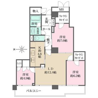 ニューシティ東戸塚タワーズシティファーストの間取図