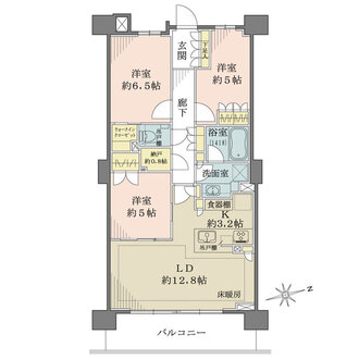 ザ・パークハウス鎌倉大船の間取図