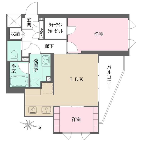 FeelM西新宿の間取図