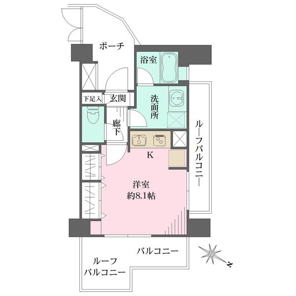 デュオ・スカーラ西新宿2の間取図