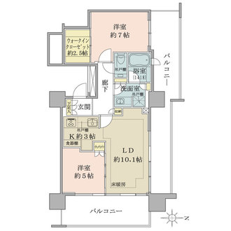 ザ・パークハウス中野タワーの間取図