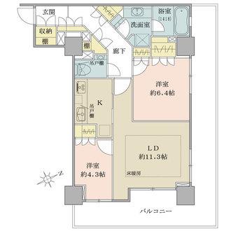 西新宿パークサイドタワーの間取図