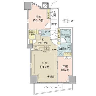 ザ・パークハウス新宿柏木の間取図