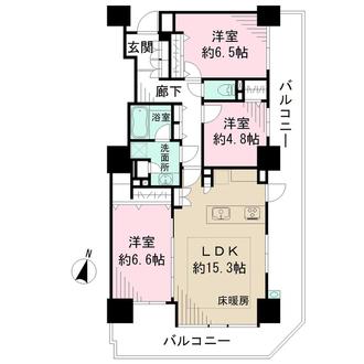 中野南台パーク・ホームズの間取図