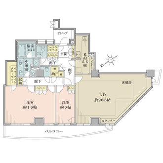 セントラルレジデンス新宿シティタワーの間取図