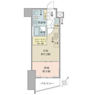 ザ・パークワンズ渋谷本町の間取図
