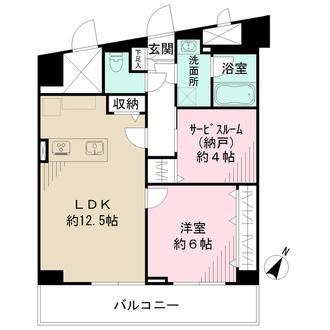 アーテル新宿の間取図