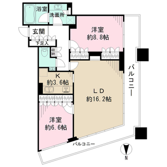 コンシェリア西新宿TOWER'S WESTの間取図