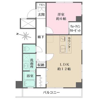 永谷リヴュール新宿の間取図