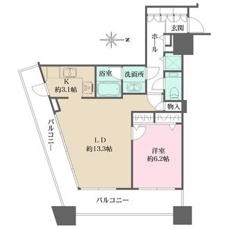 コンシェリア西新宿タワーズウエストの間取図