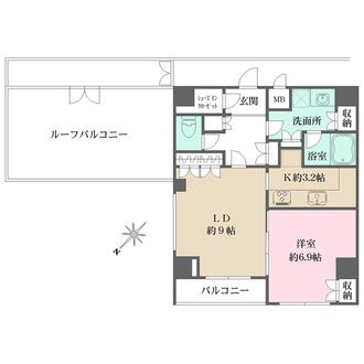 パークレーン渋谷本町の間取図