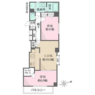 中野弥生町ハウスの間取図