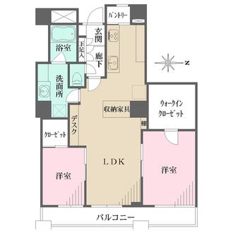 西戸山タワーホウムズサウスタワーの間取図