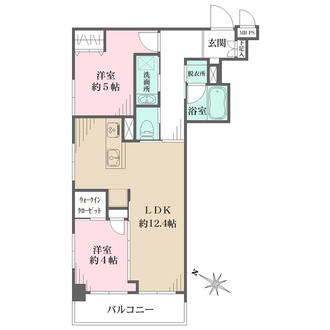 クレベール西新宿フォレストマンションの間取図