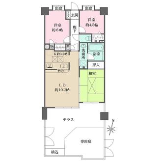 ライオンズマンション新宿柏木の間取図