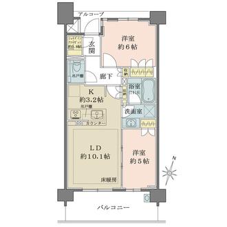 ザ・パークハウス杉並和田の間取図