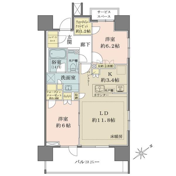 ザ・パークハウス愛宕虎ノ門の間取図