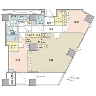 ザ・パークハウス西麻布レジデンスの間取図