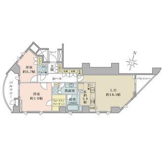 乃木坂パークハウスの間取図