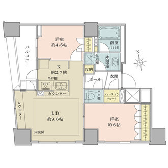 新宿山吹アインスタワーの間取図