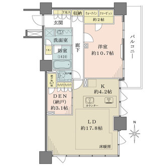 プライムパークス品川シーサイドザ・タワーの間取図
