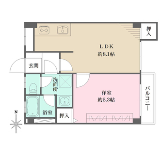 上北沢マンションの間取図