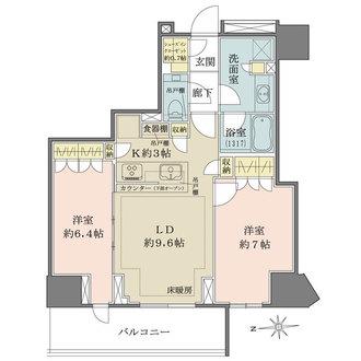 ザ・パークハウス三田タワーの間取図