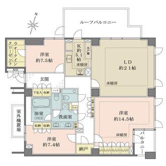 パークハウス赤坂新坂の間取図