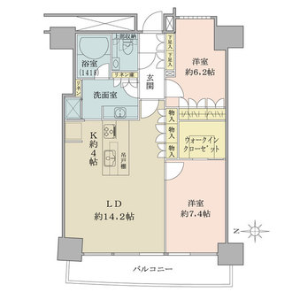 M.M.TOWERS FORESIS-R棟の間取図