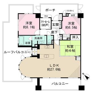 ライオンズマンション横濱元町キャナリシアの間取図