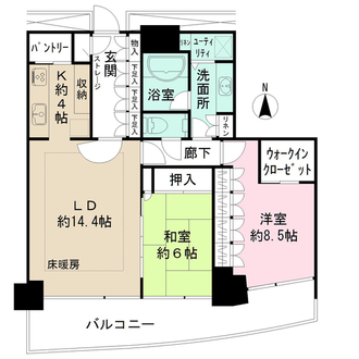 M.M.TOWERS FORESIS-L棟の間取図
