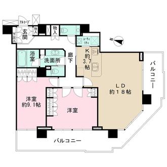 ザ・ヨコハマタワーズ タワーイーストの間取図