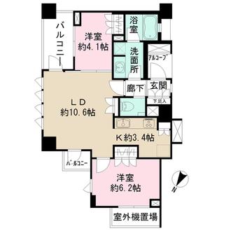 横濱紅葉坂レジデンス弐番館の間取図