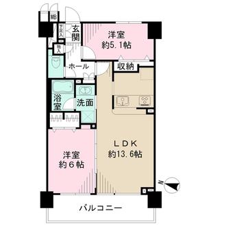 クリオ横浜元町壱番館の間取図
