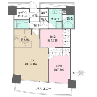 M.M.TOWERS FORESIS R棟の間取図
