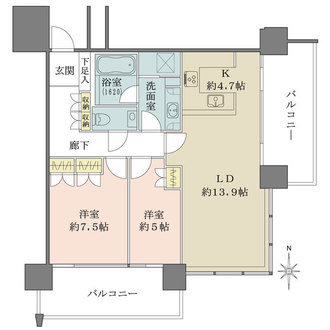 M.M.TOWERS the Southの間取図