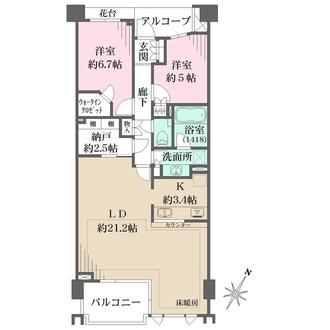 横濱紅葉坂レジデンス参番館の間取図