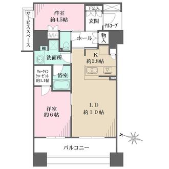 パークホームズ横濱山下町の間取図