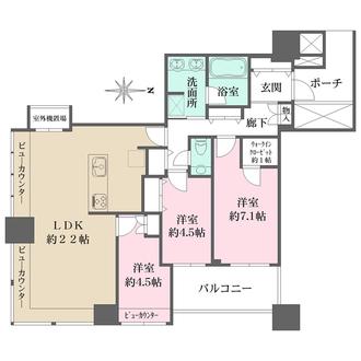 パークタワー横浜ステーションプレミアの間取図