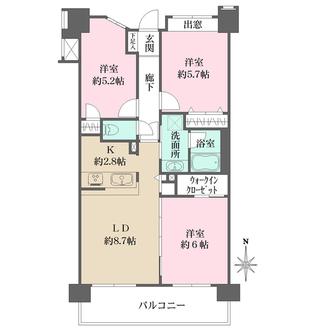 ライオンズマンション横浜桜木町の間取図