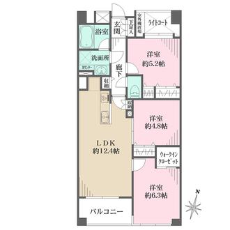 日神パレステージ横浜ベイウエストの間取図