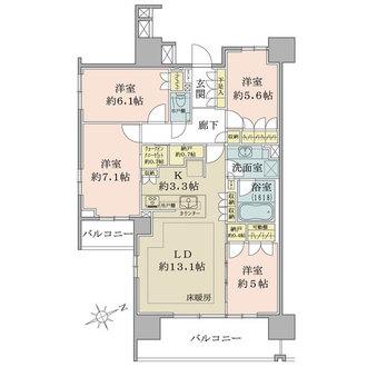 ザ・パークハウス浦和岸町の間取図