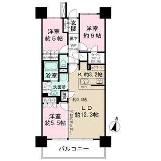 武蔵浦和SKY&GARDENの間取図