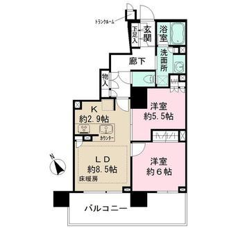 ザ・パークハウス浦和タワーの間取図